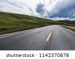 wild field highway  | Shutterstock . vector #1142370878