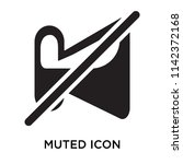 muted icon vector isolated on...