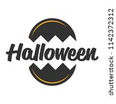 halloween circled vector banner ... | Shutterstock .eps vector #1142372312