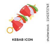 kebab icon vector isolated on... | Shutterstock .eps vector #1142372765