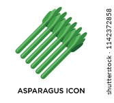 asparagus icon vector isolated... | Shutterstock .eps vector #1142372858