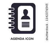 agenda icon vector isolated on... | Shutterstock .eps vector #1142376545