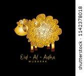 cute funny sheep  vector...   Shutterstock .eps vector #1142378018