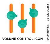 volume control icon vector... | Shutterstock .eps vector #1142380355