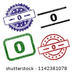 0 seal prints with corroded...   Shutterstock .eps vector #1142381078