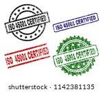 iso 45001 certified seal prints ...   Shutterstock .eps vector #1142381135