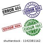 error 404 seal imprints with...   Shutterstock .eps vector #1142381162