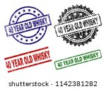 40 year old whisky seal prints... | Shutterstock .eps vector #1142381282