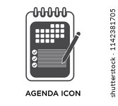 agenda icon vector isolated on... | Shutterstock .eps vector #1142381705