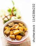 fish organs sour soup  kaeng... | Shutterstock . vector #1142386232