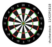 classic board  target for darts ...   Shutterstock .eps vector #1142391818