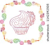cake. vector illustration | Shutterstock .eps vector #1142392505