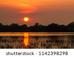 warm sunset reflect on water at ...   Shutterstock . vector #1142398298