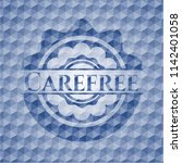 carefree blue emblem with... | Shutterstock .eps vector #1142401058