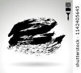black brush stroke and texture. ... | Shutterstock .eps vector #1142405645