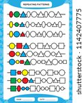 complete repeating patterns.... | Shutterstock .eps vector #1142407775
