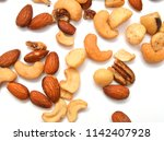 mix nuts  dry fruits and grapes ... | Shutterstock . vector #1142407928