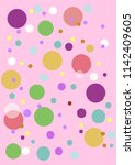 pink purple green bubbles | Shutterstock .eps vector #1142409605