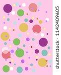 pink purple green bubbles | Shutterstock .eps vector #1142409605