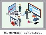 3d infographic business data... | Shutterstock .eps vector #1142415932