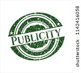 green publicity with rubber... | Shutterstock .eps vector #1142416058