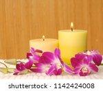 spa and wellness setting with...   Shutterstock . vector #1142424008