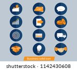 business solid icon | Shutterstock .eps vector #1142430608