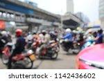 blur view of bangkok busy... | Shutterstock . vector #1142436602