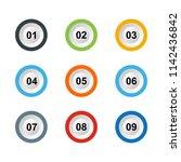set of number button design | Shutterstock .eps vector #1142436842