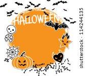 vector background of halloween... | Shutterstock .eps vector #114244135