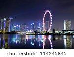 singapore city skyline at night | Shutterstock . vector #114245845