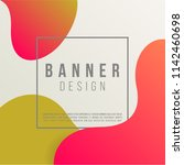 fluid abstract banner design.... | Shutterstock .eps vector #1142460698