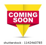 red vector banner coming soon | Shutterstock .eps vector #1142460785