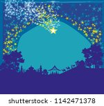 birth of jesus in bethlehem.   Shutterstock .eps vector #1142471378