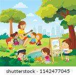 Children Listening To The...