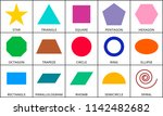 flat geometric shapes....   Shutterstock .eps vector #1142482682