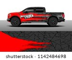 truck and vehicle graphic decal ... | Shutterstock .eps vector #1142484698