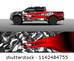 truck and vehicle graphic decal ...   Shutterstock .eps vector #1142484755