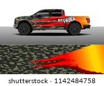 truck and vehicle graphic decal ...   Shutterstock .eps vector #1142484758