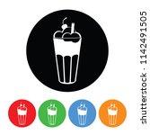 ice cream milkshake icon in a... | Shutterstock . vector #1142491505
