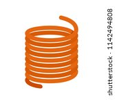 flexible cable icon. flat... | Shutterstock .eps vector #1142494808