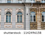 front of building in germany... | Shutterstock . vector #1142496158