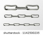 metal chain vector illustration ... | Shutterstock .eps vector #1142500235