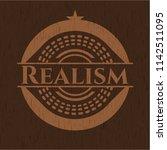 realism vintage wooden emblem | Shutterstock .eps vector #1142511095