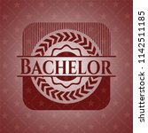 bachelor badge with red...   Shutterstock .eps vector #1142511185