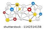 funny concept of social media... | Shutterstock .eps vector #1142514158