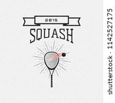 squash badges logos and labels... | Shutterstock . vector #1142527175