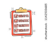 vector cartoon to do list icon... | Shutterstock .eps vector #1142533685