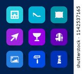 modern  simple vector icon set... | Shutterstock .eps vector #1142537165
