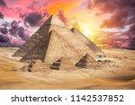 egypt cairo   giza. general... | Shutterstock . vector #1142537852